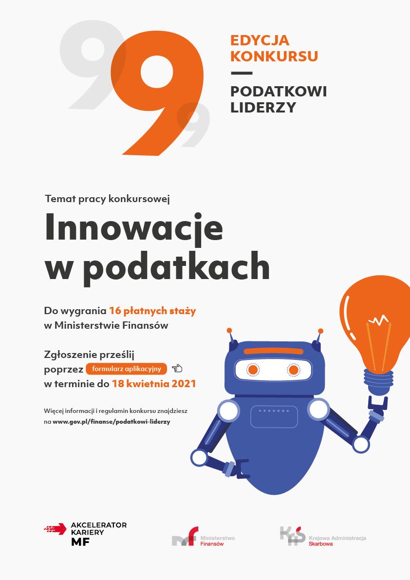 """IX edycja konkursu Podatkowi Liderzy – """"Innowacje w podatkach"""""""