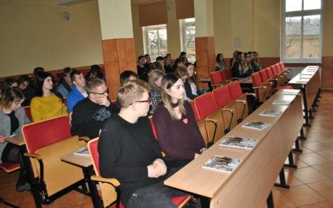 Spotkanie z uczniami Liceum Ogólnokształcącego  w Gryficach
