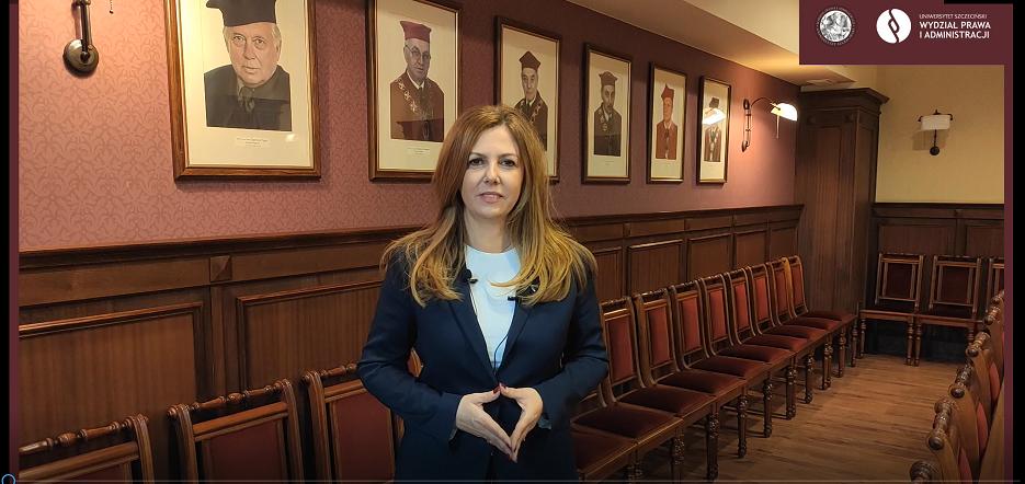 Dziekan WPiA US dr hab. Ewelina Cała-Wacinkiewicz, prof. US na nowy rok akademicki