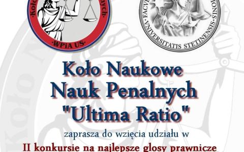 II Konkurs na najlepsze glosy prawnicze do orzeczeń sądów apelacji szczecińskiej z zakresu prawa i postępowania karnego