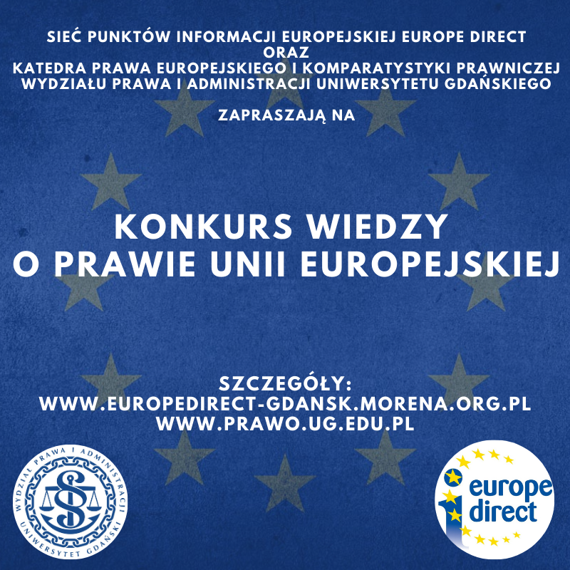 Konkurs wiedzyoprawieUnii Europejskiej– zgłoszenia