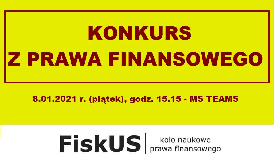 Konkurs z Prawa finansowego