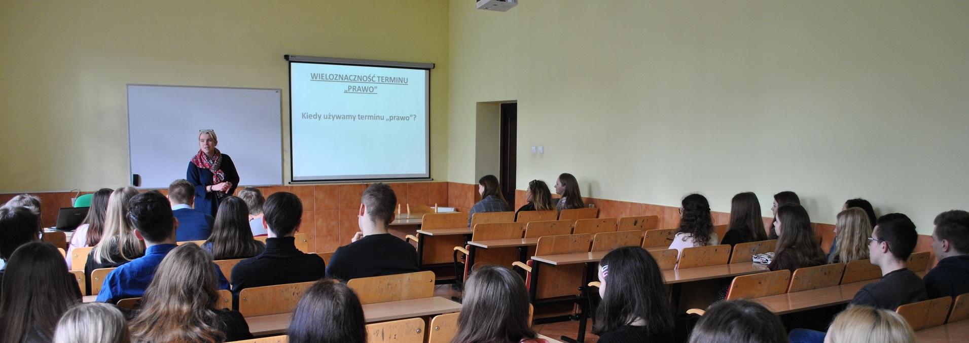 Spotkanie z uczniami II Liceum Ogólnokształcącego w ZSO w Nowogardzie