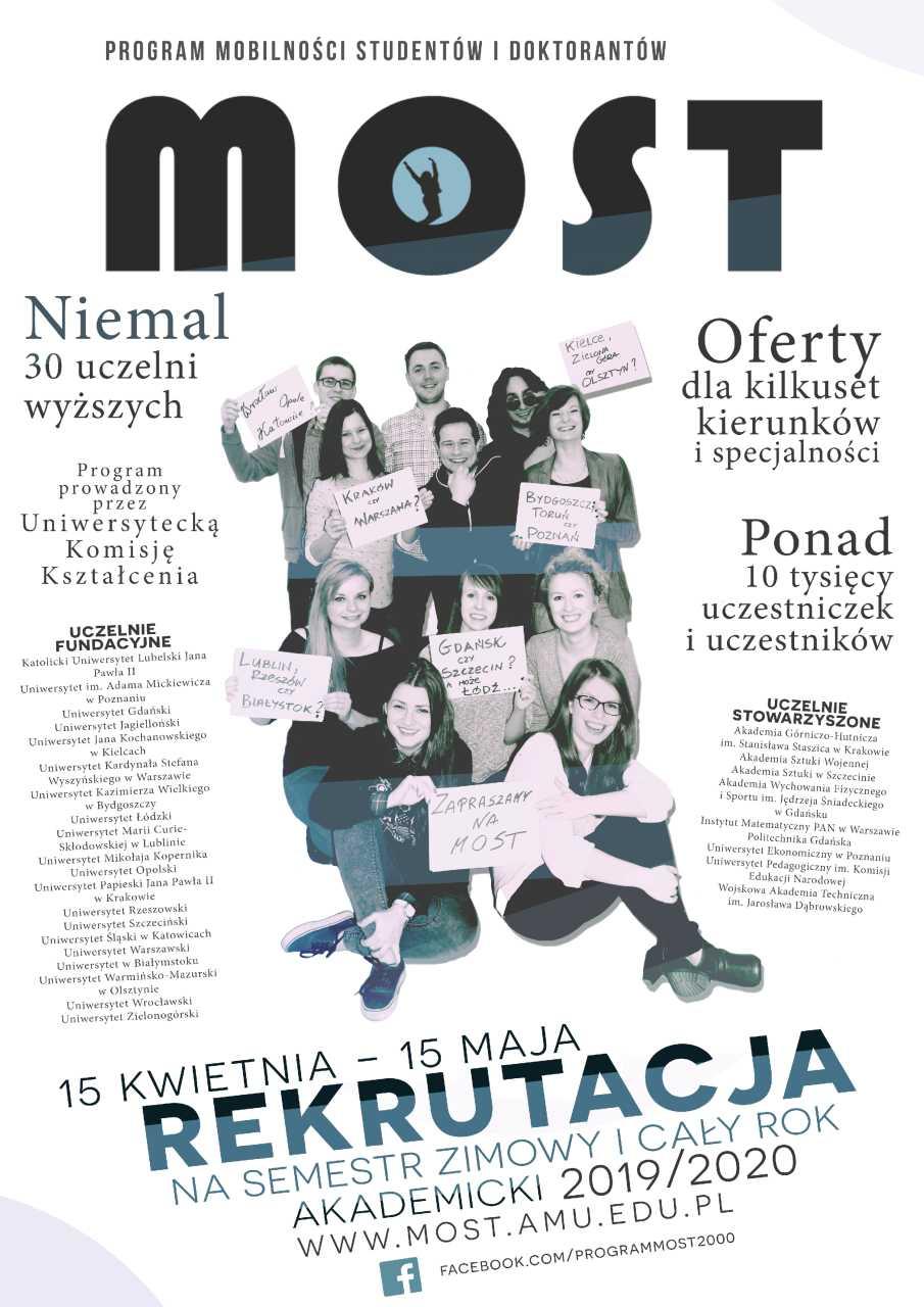 Program MOST – wymiana studencka pomiędzy polskimi uczelniami