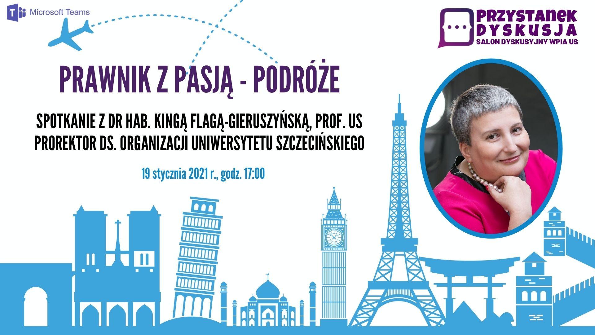 """""""Prawnik z pasją – podróże"""" – Przystanek Dyskusja (19 I 2021)"""