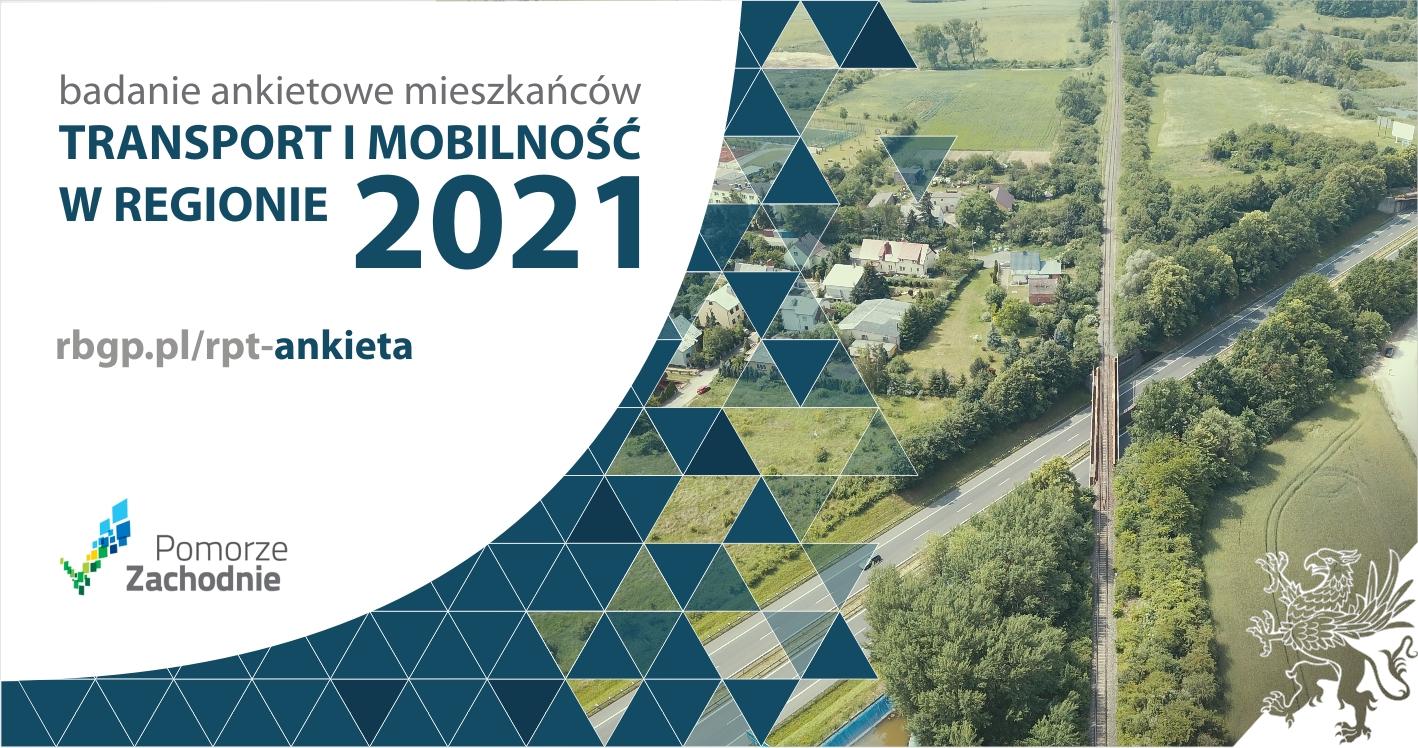 """""""Transport i mobilność w regionie – 2021""""– ankieta dla mieszkańców gmin woj. zachodniopomorskiego"""