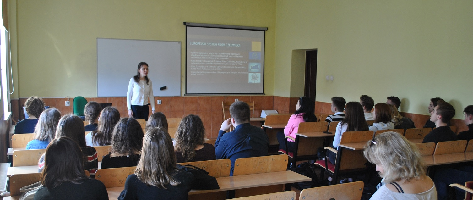 Spotkanie z uczniami XI LO w Szczecinie – Systemy ochrony praw człowieka (cz. 2)