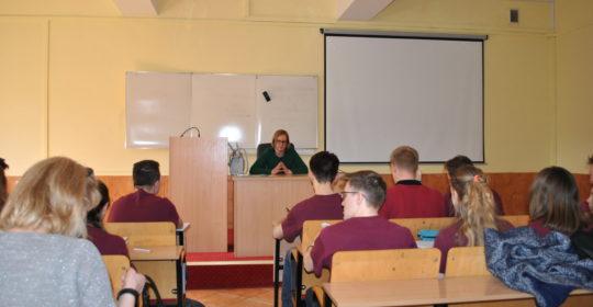 Wykład dr hab. K. Nizioł, prof. US dla uczniów XIII LO w Szczecinie