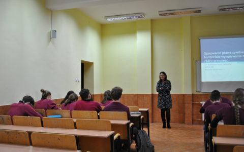 Spotkanie z uczniami XIII Liceum Ogólnokształcącego w Szczecinie