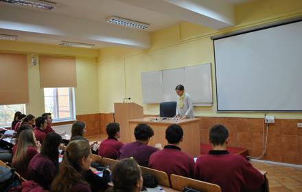 Wykład dr B. Baczyńskiej dla uczniów XIII LO w Szczecinie