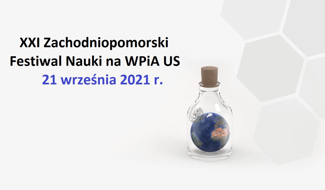 XXI Zachodniopomorski Festiwal Nauki – spotkania i wykłady na WPiA US (21.09.2021)