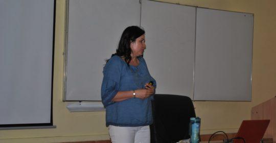 Wykład prof. Anny Barczak dla uczniów XI Liceum Ogólnokształcącego w Szczecinie